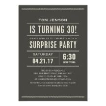 ... surprise bday party in October! My husband is finally turning 30