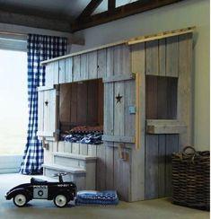 Fun! Like a barn yard inspired bed! Cute idea for kids