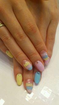 Cute Easter manicure