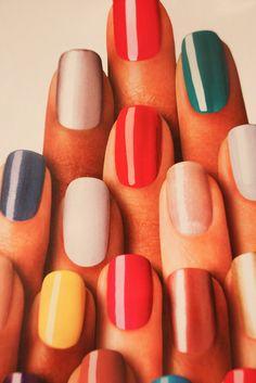 Nail Art inspiration.  #nail #vintage #art #inspiration