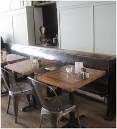 Restaurant Interior Design   old church pews !!!   this would be awesome!