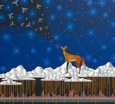 Tatiana Clauzet - AZUL-GUARÁ | 100 x 90 cm