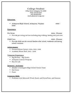 13 College Resume ...