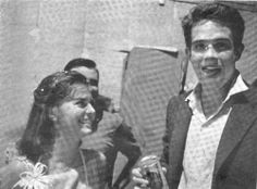 Natalie Wood and Warren Beatty while filming Splendor In The Grass.