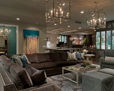 Living Room Brown on Pinterest