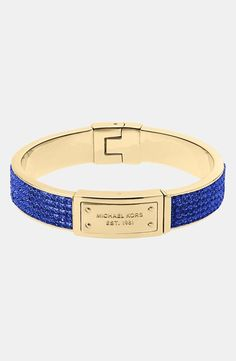 We can't get enough of this blue and gold bracelet!