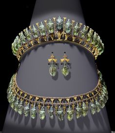 Another closeup pin of the Phillips beetle tiara and parure