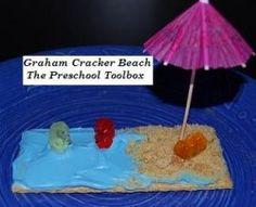 Graham Cracker #Beach #Snacks for #Kids