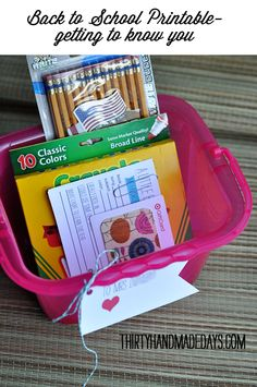 Back to school getting to know you printable card and gift idea for teachers!