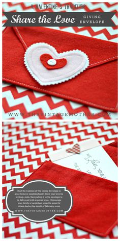 The Giving Envelope: A fun Valentine's tradition {www.thevintagemother.com}