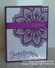 SU Doily card