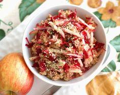 Raw Pink Breakfast Bowl--a great, quick, alternative to cereal! #vegan #grainfree #recipe | rickiheller.com