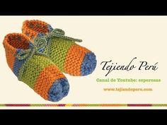 Dos agujas: pantuflas (Parte 1)