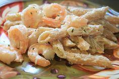Mostly Homemade Mom: Lemon Garlic Shrimp Penne