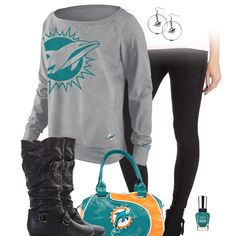 Miami Dolphins Leggings Outfit