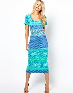 Enlarge Vila Midi Body-Conscious Dress With Cap Sleeve