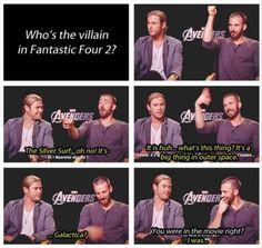 chris hemsworth, funni, silver surfer, captain america, chris evan