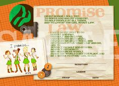 Girl Scout Promise and Law printable