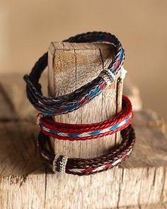Folk-inspired woven bracelets