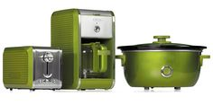 Bella Dots Collection: Toaster, Coffee Maker and Slow Cooker - Lime Green #BellaDots #BellaLife