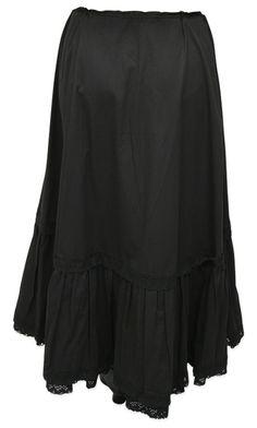 Classic Cotton Petticoat - Black $44.95