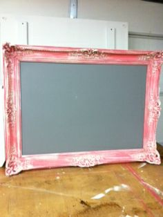 Picture frame and chalkboard painted with Websters Chalk Paint Powder! See how easy it is to use! http://websterschalkpaintpowder.com/