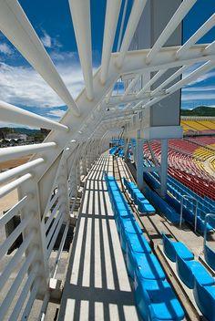 Detalle en las tribunas del Estadium Olímpico José Antonio Anzoátegui en Puerto la Cruz, Estado Anzoátegui, Venezuela
