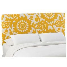 I pinned this Peyton Headboard in Sungold from the Preppy 101 event at Joss and Main!