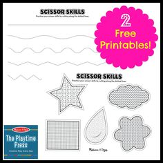 2 scissor skills printables for kids