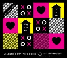 Valentine Surprise Box (This is the free printable template)