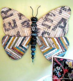 Huge 5 ft Original Butterfly Mixed Media Sculpture by LucyDesignsonline,