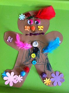 Gingerbread man craft and a real Gingerbread Recipe with Gingerbread Man stories!
