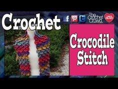 Learn how to crochet the Crocodile Stitch. This is a huge trend at the moment and the Crocodile Stitch is all the rage. Learn how simple this technique is. T...