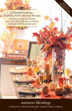 HobbyLobby Projects - Autumn Blessings
