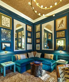 Markham Roberts' study at the Kips Bay Decorator Show House