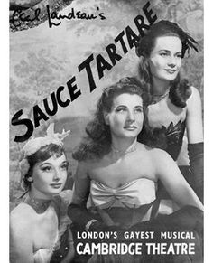 Audrey featured on the cover of the Sauce Tartare program which played at the Cambridge Theatre, 1949