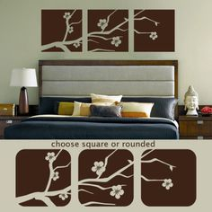 decor room, bedroom deco, bed decor, guest bedrooms, bedroom walls, cherri blossom, master bedrooms, extra bedroom, cherry blossoms