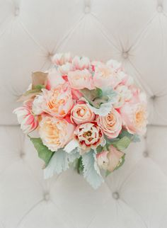 Peach and mint bouquet