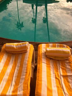 Striped loungers at Viceroy Palm Springs