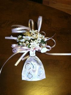 For my baby girls bridal shower corsage. Love you!