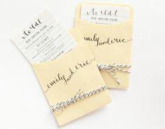 librari card, color blue, library books, menu cards, brides, dinner menu, themed weddings, envelop, wedding menu