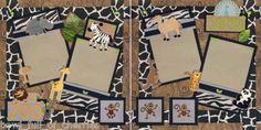 scrapbook layout Cricut zoo