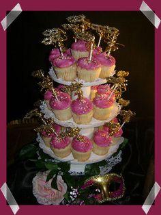 Yummy Masquerade Party Cupcakes
