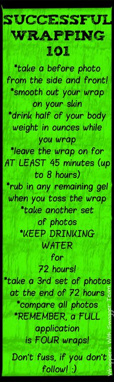 How to get the best results when using It Works Body Wraps! https://christinasantos.myitworks.com want2wrap@gmail.com