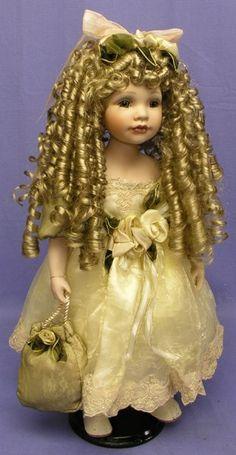 Pretty porcelain doll