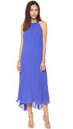 Line & Dot Pleated Dress