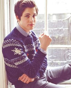 cute boys in cozy sweaters... oh logan