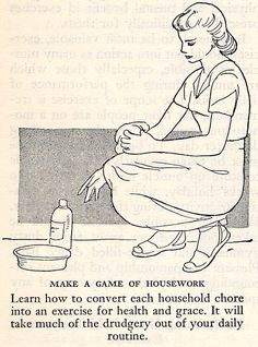Make A Game Of Housework!  From The Pictorial Medical Guide, 1953