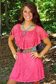 Sweet Melissa Dress In Coral $46.99! #SouthernFriedChics