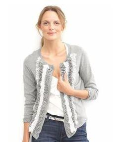 Ruffle Cardi sew, sweaters, ruffl sweater, christma idea, diy ruffl, craft idea, red roost, cloth craft, ruffles